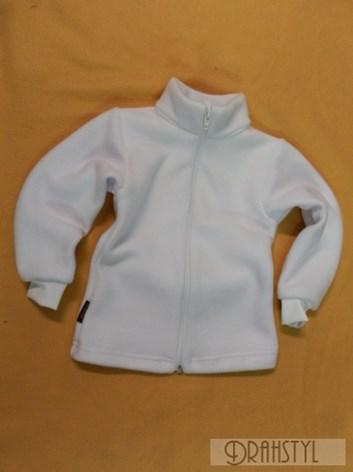 Dívčí bílý svetřík přes šaty 92-122