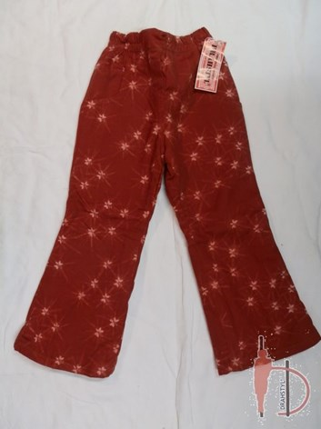 Dívčí bavlněné kalhoty s flísem 110,116