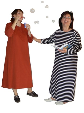 Domácí šaty Darja - jednobarevné- bavlněné