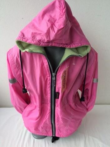 Dívčí růžová PODZIMNÍ/JARNÍ  bunda s teplou podšívkou.
