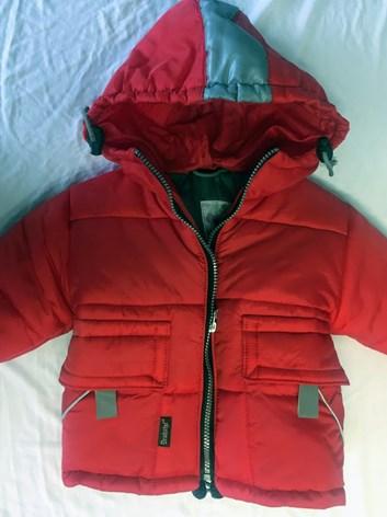 Červená zimní bunda 86