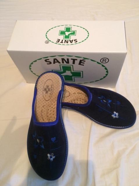 Zdravotní obuv dámská domácí obuv Tmavě modrá