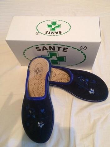 Zdravotní obuv dámská domácí obuv Tmavě modrá 41