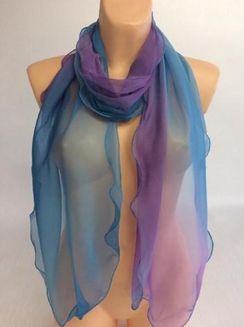 Dámská lehoučká šálka modro fialová