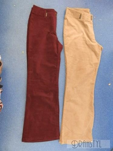 Manšestrové kalhoty dámské  38,40,42,48