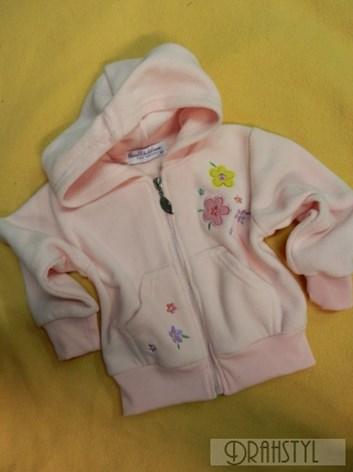 Dívčí mikinka na zip s kapucí 98-116