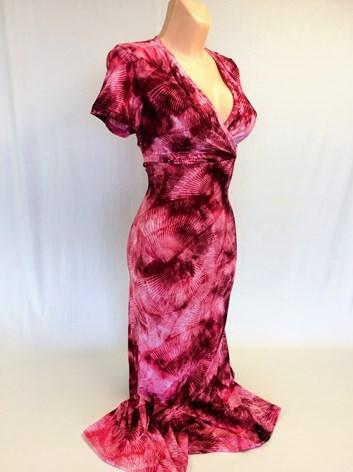 Společenské růžové  šaty LÝDIE