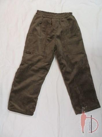 Zateplené chlapecké kalhoty 110
