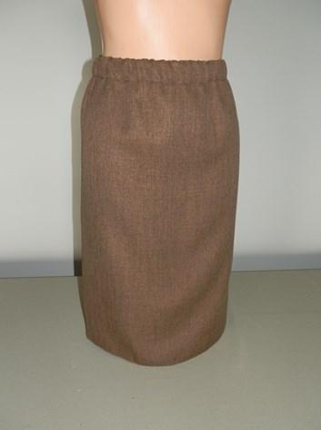 Dámská krátká sukně HNĚDÁ