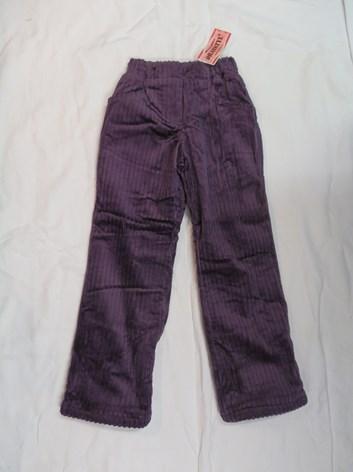 Dívčí manšestráky- zateplené kalhoty 134,