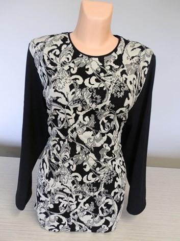Žakárový elegantní svetr prodloužený  teplá tunika DAGMAR