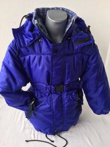 Dětská bunda s páskem prodloužená- kabát