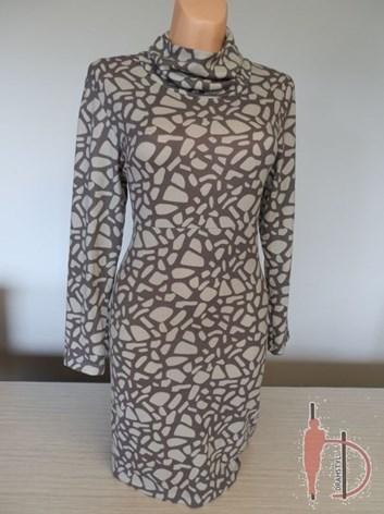 Podzimní šaty s dlouhými rukávy  ALICE 46,48