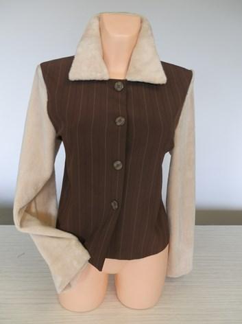 Sako, kabátek  s chlupatými rukávy 38,40