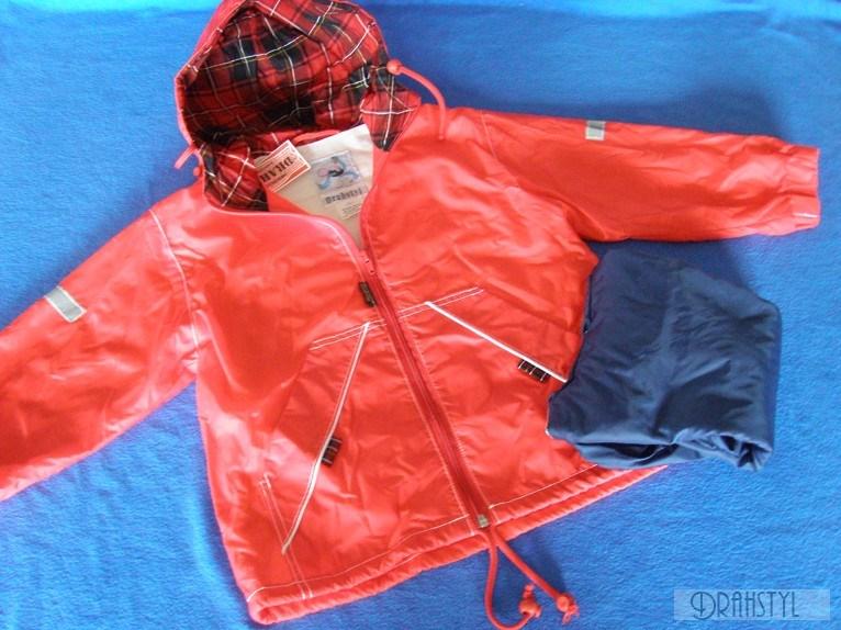 Dětská šust´áková bunda s bavlněnou podšívkou