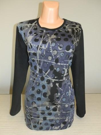 Fialový prodloužený  svetr, teplá tunika  ZIKA