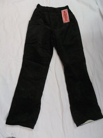 Černé manšestrové kalhoty zateplené  122,128,140,146,152
