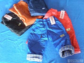 šusťákové kalhoty s teplou podšívkou  92-116
