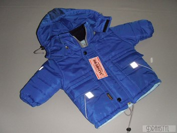 Modrá zimní bunda-kluk 86,92,98, 116