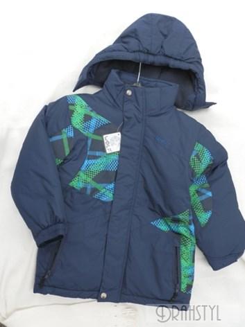 Zimní bunda modrozelená 98