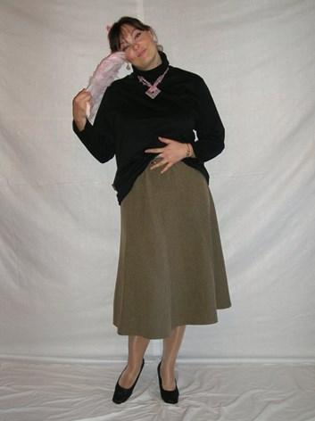 Dámská sukně rozšířená Květa