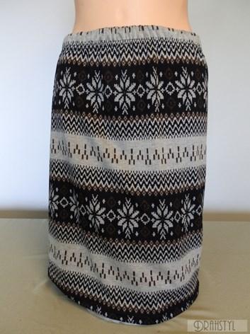 Rovná podzimní sukně do gumy- norský vzor