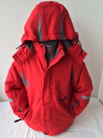 Dětská zimní červená lyžařská bunda 128