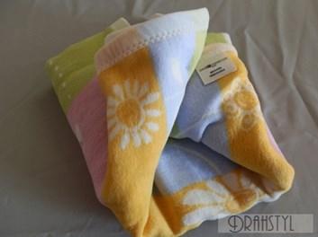Dětská deka žluto modro zelená