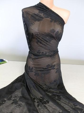 Černá krajkovina - úplet 29- metráž à 10 cm