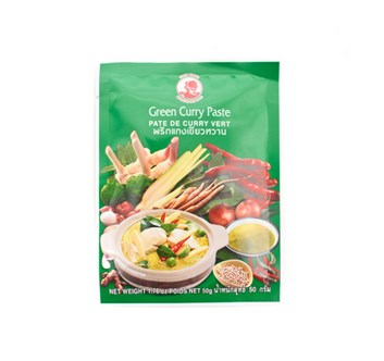 Curry pasta green