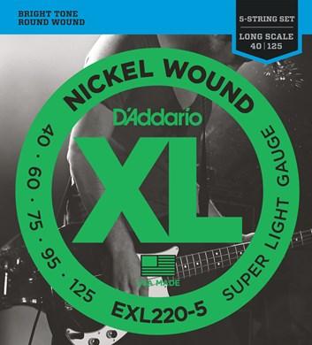 D´Addario EXL220-5 baskyt. 40/125
