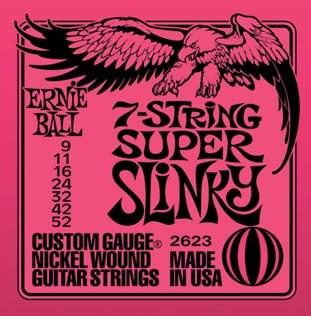 Ernie Ball 2623 pro 7 strunnou kytaru 9/52