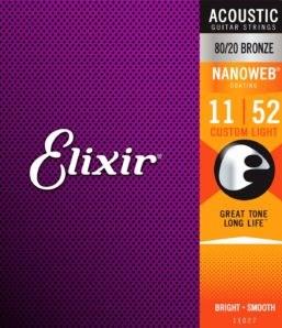 Elixir 11027 Bronze Custom Light .011/.052
