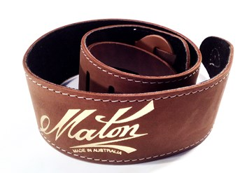 Maton Soft Sueded Strap Brown