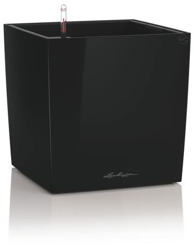 Lechuza Cube Premium 30 Black High Gloss