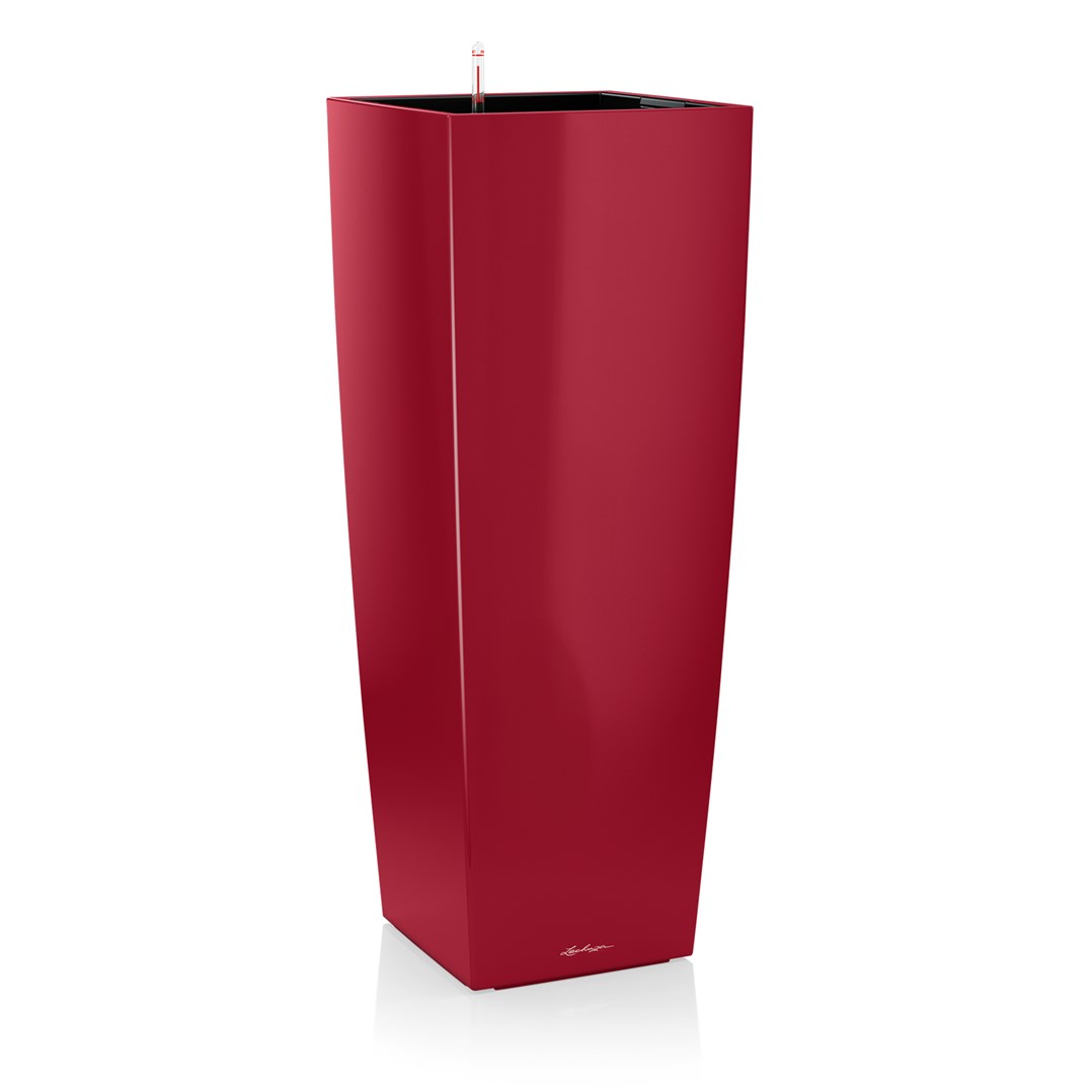 Lechuza Cubico Alto Premium 40 Scarlet Red High Gloss