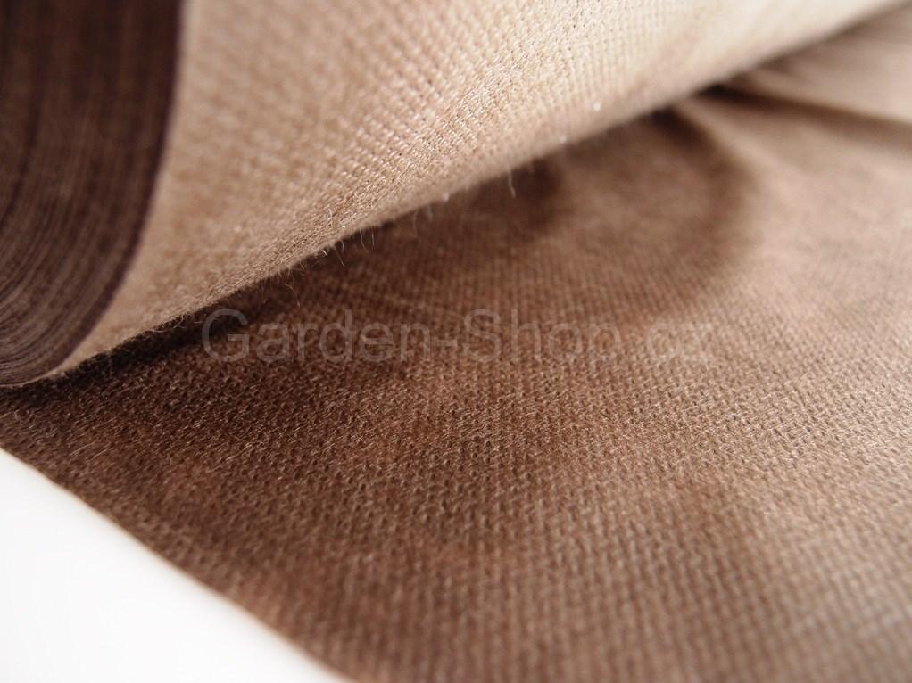 Netkaná mulčovací textilie hnědá