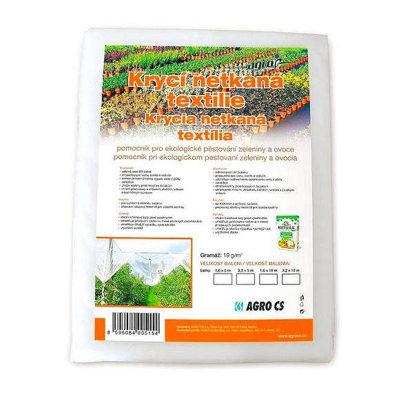 AGRO krycí netkaná bílá textilie 19g/m2 | 3,2x5m | 16m2