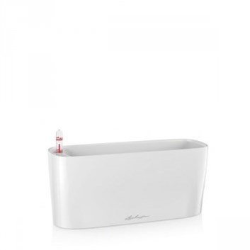 Lechuza Delta 10 Table Planter White High Gloss