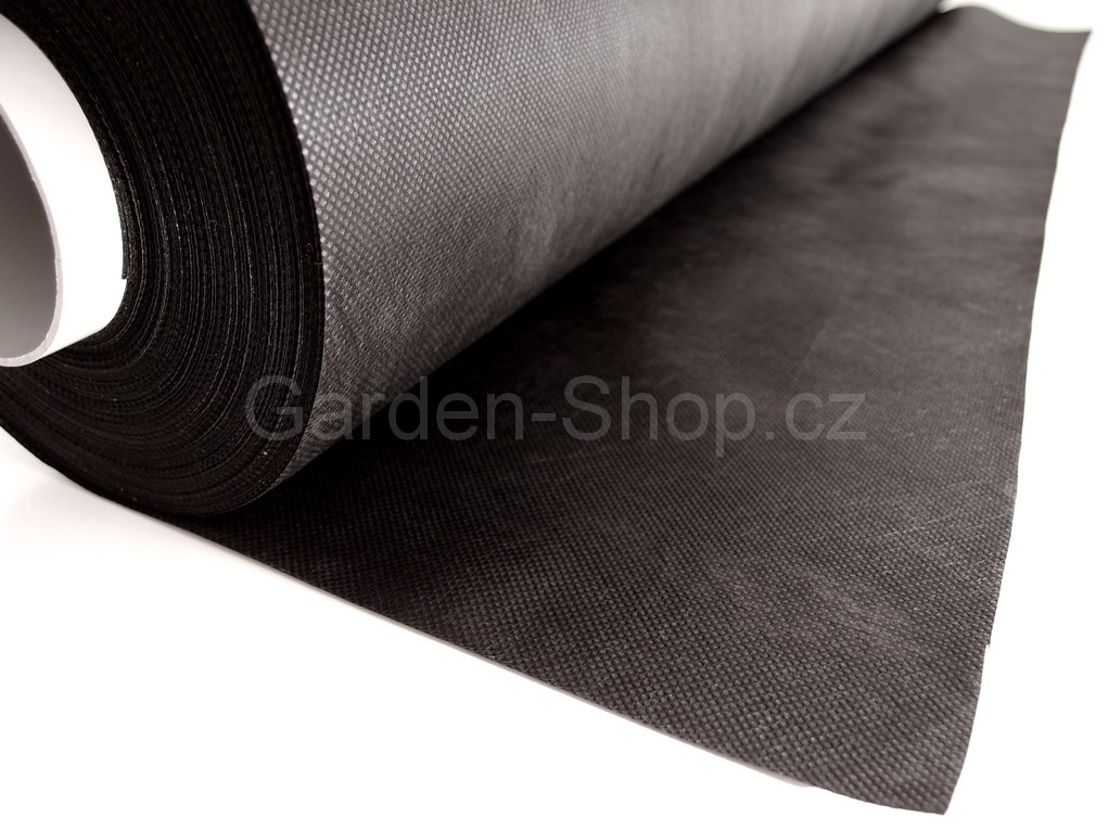 Netkaná mulčovací textilie černá