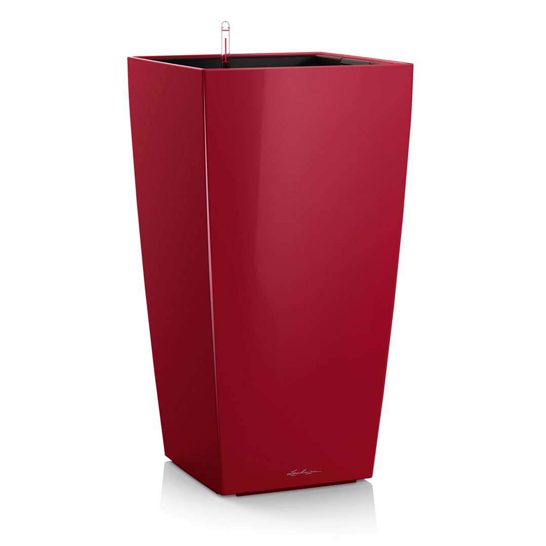 Lechuza Cubico Premium 40 Scarlet Red High Gloss