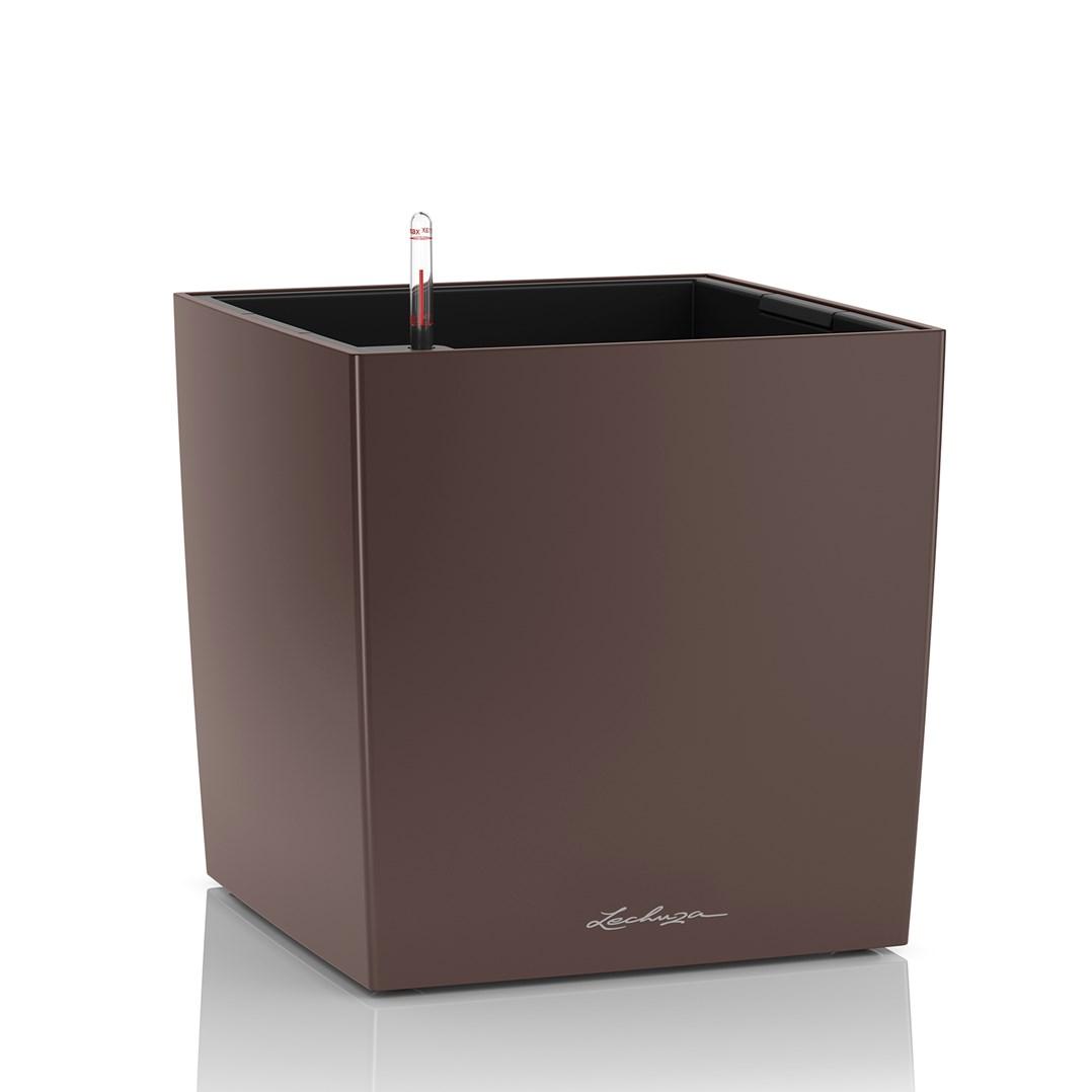 Lechuza Cube Premium 50 Espresso Metallic