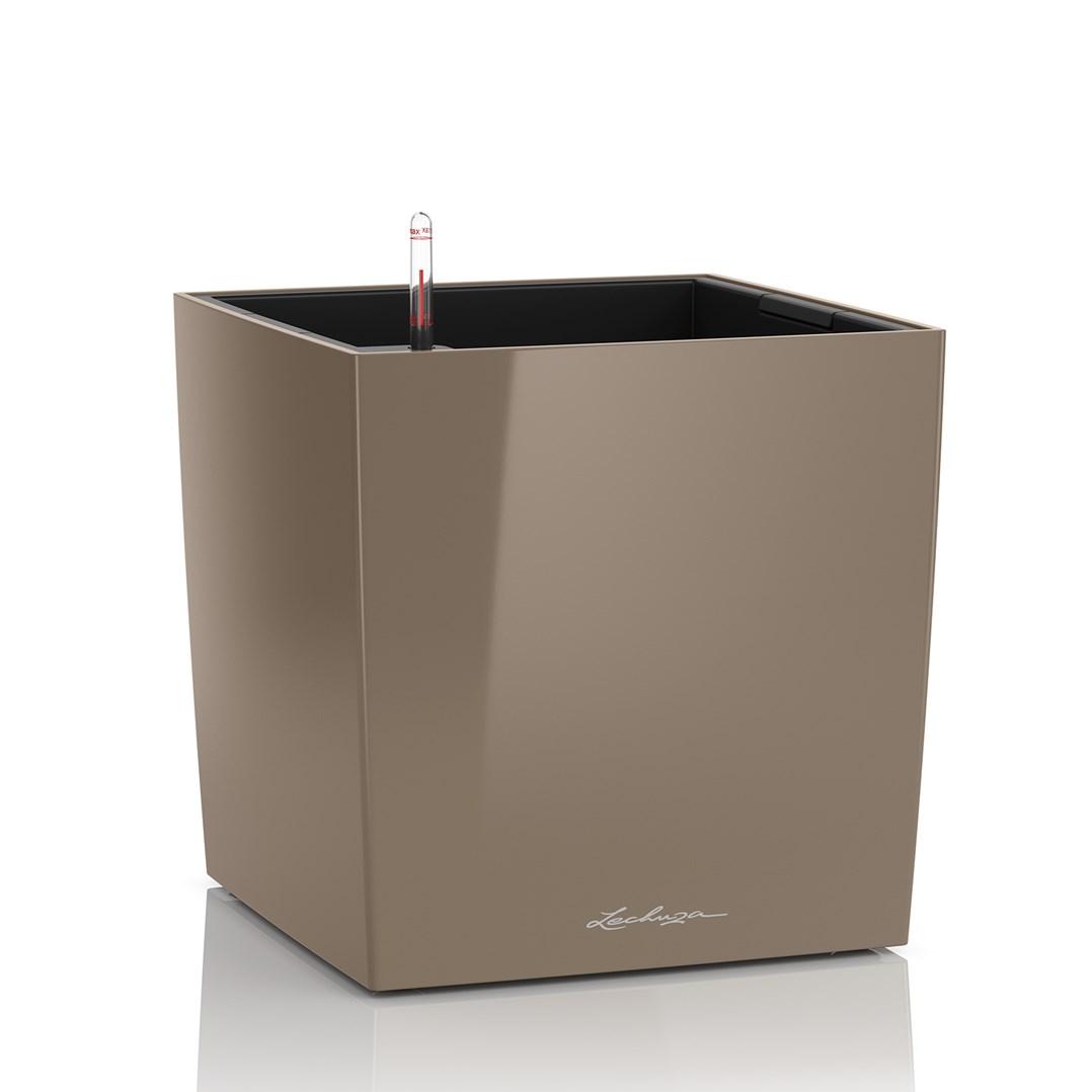 Lechuza Cube Premium 30 Taupe High Gloss