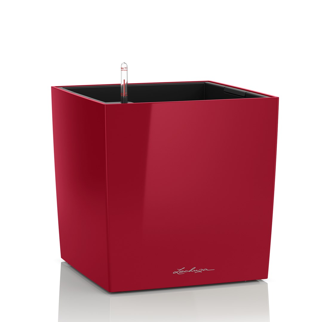 Lechuza Cube Premium 30 Scarlet Red High Gloss