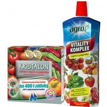 Kristalon Zdravé rajče a paprika 0,5 kg + AGRO VItality Komplex rajče a paprika 1 L