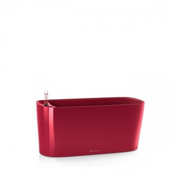 Lechuza Delta 20 Table Planter Scarlet Red High Gloss