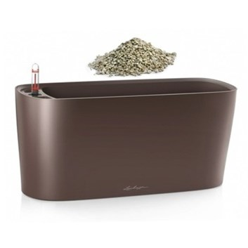 Lechuza Delta 20 Table Planter Espresso Metallic