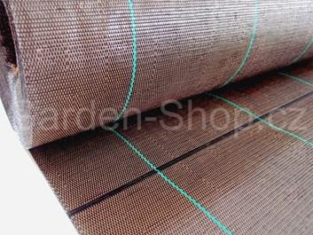 Tkaná mulčovací textilie hnědá 100 g/m2  1,05 m