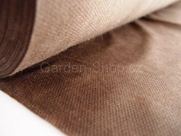 Netkaná mulčovací textilie hnědá 50 g/m2  1,6 m