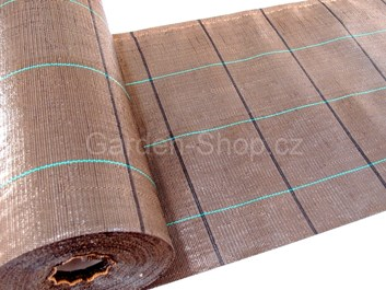 Tkaná mulčovací textilie hnědá 100g/m2 | 0,5x100m | 50m2